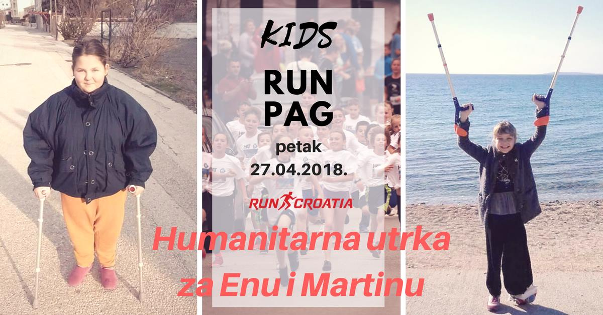 ''Run Croatia Kids Run 2018'' u petak, 27. travnja u Pagu